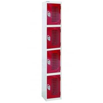 British Perforated Door Locker 4 Compartment