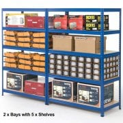 1800mm High Industrial Shelving 265KG UDL