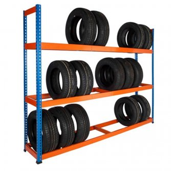 PQ 1980mm High Heavy Duty Tyre Racks in 4 Widths