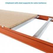 600mm Depth Mecalux Longspan Shelving Chipboard Levels in 6 widths to Build a Complete System
