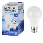 7w Dimmable LED BC B22 GLS Energy Saving Long Life Bulb - 3000K Warm White