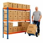 Archive Storage Racking with Boxes from 25 to 112 Boxes choice of sizes