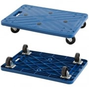 Blue Plastic Dolly 110h x 600w x 400d mm