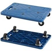 Blue Plastic Dolly 110h x 600w x 400d mm