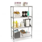 Chrome Wire Shelving Stoarge Rack 1371mm High