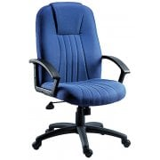 City Executive Fabric Chair in Charcoal, Blue or Burgundy