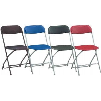 PQ Classic Lightweigh Folding Chairs 4 Colours Sold in Packs of 8