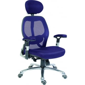 PQ Cobham Mesh Back Blue Executive Chair in Black or Blue