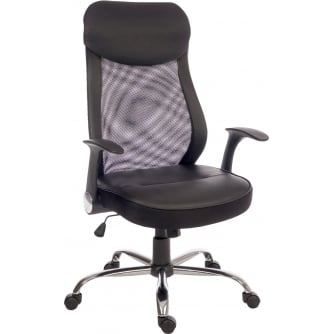 PQ Contemporary Mesh Executive Chair Lumbar Curved And Retractable Armrests