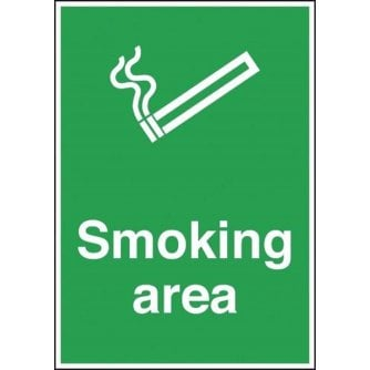 PQ Designated Smoking Area Sign A4 Rigid Plastic