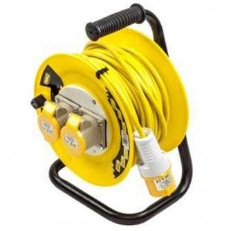 PQ ENGEX 25M 110V Quality Extension Reel 2 Gang EN60309