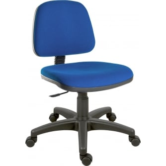 PQ Ergo Operator Chair in Black or Blue Fabric