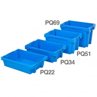 PrioryQuay European Stacking and Nesting Containers 24 to 69litres