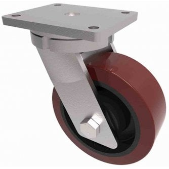 PQ Extra heavy Duty Fixed and Swivel 200mm Cators with PU Tyres 1600kg Capacity