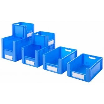 PQ Great Value Euro Stacking Picking Bins Blue - 6 sizes