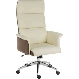 PQ Gull Winged Eton High Backed Chair in Cream or Black