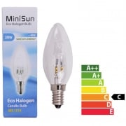 Halogen Candle Energy Reducing Bulb 28w SES equivalant to 40w pack of 10