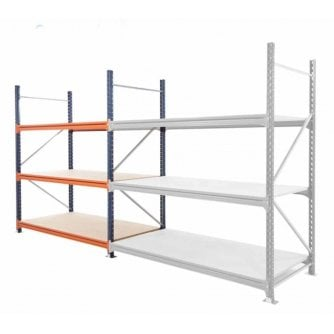 PQ HD Longspan Starter Bays 2000mm High x 900mm Depth Mecalux choice of 6 widths up to 450kg UDL