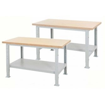 PQ Heavy Duty Height Adjustable Work Benches 2 Types with 3 top options