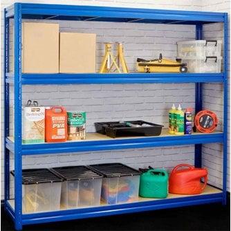 PQ Heavy Duty Longspan Shelving for Garage, Workshop or Storeroom - 6 Sizes