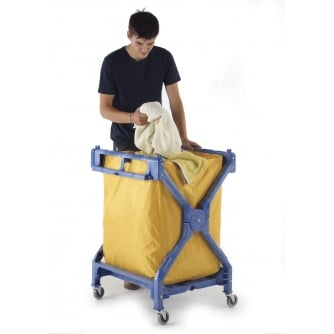 PQ Housekeeping Tough Foldable Laundry Trolley