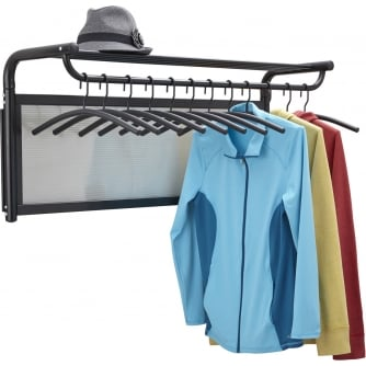 PQ Impromptu Coat Rack, incl 12 Hangers, Black (BL)