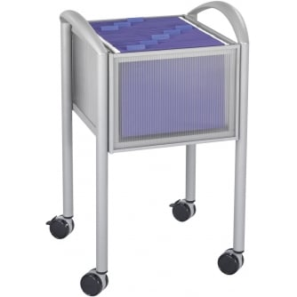PQ Impromptu File Cart, Open Top, Grey (GR)