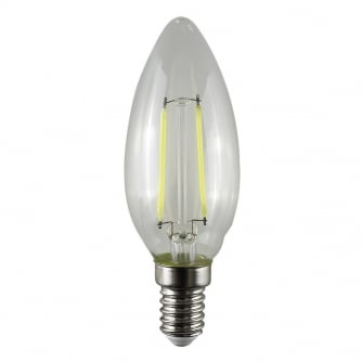 PQ LED Designer Candle 4W SES E14 LED Light Bulb with clear glass