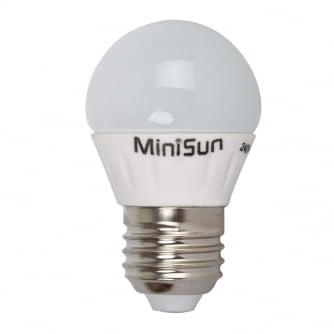 PQ LED E27 Globe or Golf Bulb 2700K 20000 hours
