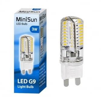 PQ LED G9 3w Energy Saving Long Life Light Bulb - Warm White Non Dim 180 Lumens