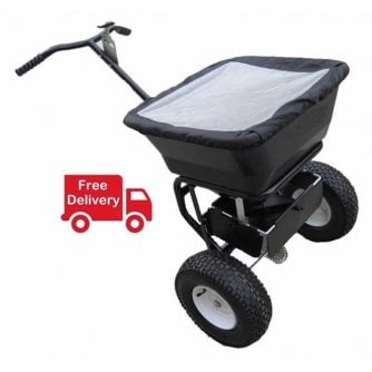 PQ Pedestrian Salt Spreader Capacity 50kg White Rock Salt