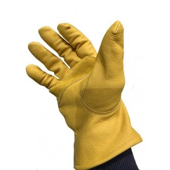 PQ Premium Leather Work Gloves Colour Yellow, M,L XL Pack of 3