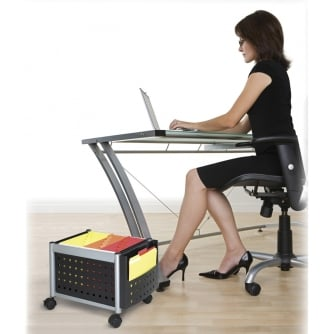 PQ Scoot Underdesk Mobile File Cart (Foolscap)