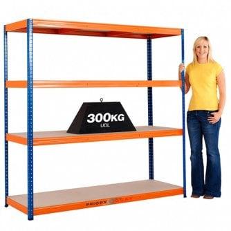 PQ Top Selling Medium-Duty Blue & Orange Shelving