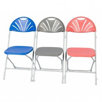 PQ Tough Plastic Folding Chair with Fan Back ideal for Education and Church Halls