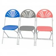 Tough Plastic Folding Chair with Fan Back ideal for Education and Church Halls