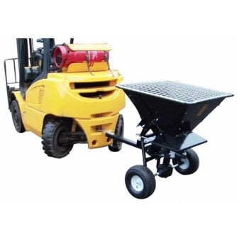 PQ Towable Salt Spreader capacity 190 Litres White Rock Salt
