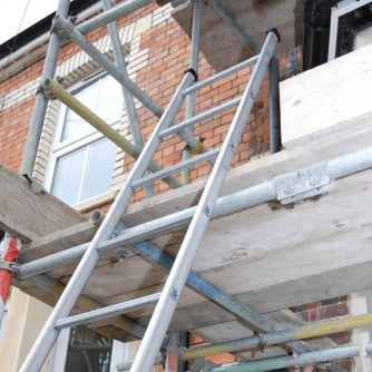 PQ Tuff Steel Pole Ladders 3, 4 and 5 metres length EN131