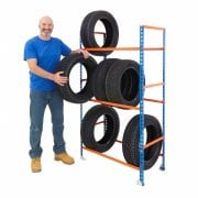 Tyre and Wheel Racks ideal for the Smaller Garage 2 Sizes with 3 levels Static or Mobile