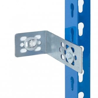 PQ Universal Wall 130mm and Floor Fixings for Shelving - Galvanised Steel