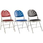 Upholstered Folding Chair 2600 in Blue Charcoal or Burgundy