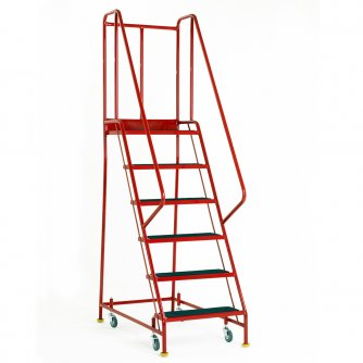 British Premier Commercial 6 Steps with Retracting Castor