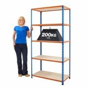 1830mm High Longspan Industrial Racking 140-200KG UDL