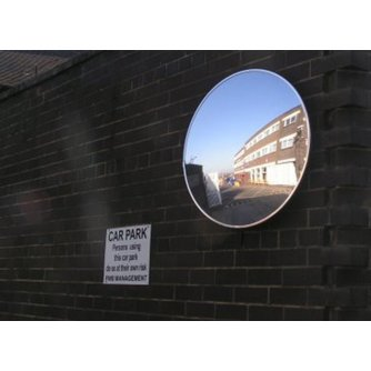Priory Quay Economy Acrylic Safety Mirror - 400mm Convex for External use