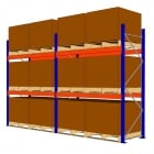 Quality Blue & Orange Pallet Racking