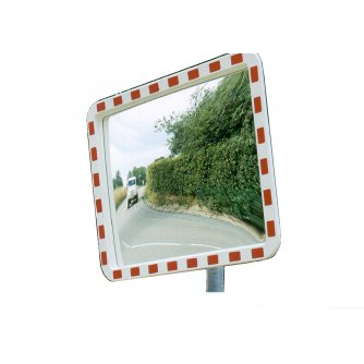 Priory Quay Stainless Steel Safety Traffic Mirror 600 x 450mm