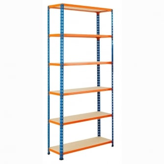 PrioryQuay High Shelving with Chipboard Shelves 1980mm High 100 to 300KG UDL
