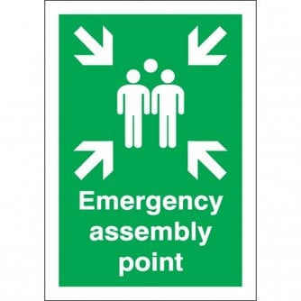 Safety First Aid A4 Emergency Assembly Point Rigid Plastic