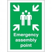 A4 Emergency Assembly Point Rigid Plastic