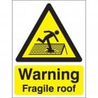 A5 Danger Fragile  Roof in Rigid Plastic